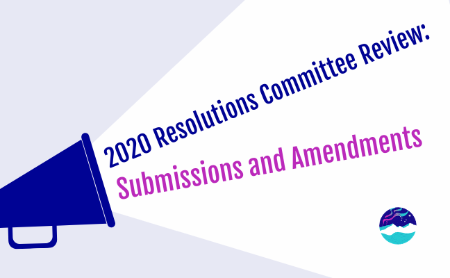 2020 Resolutions Committee Review – Submissions and Amendments