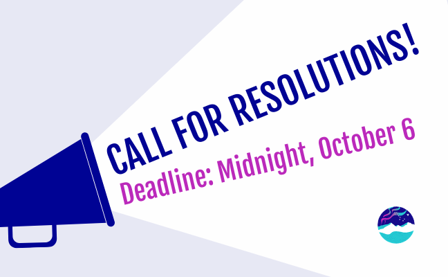Call for Resolutions graphic.