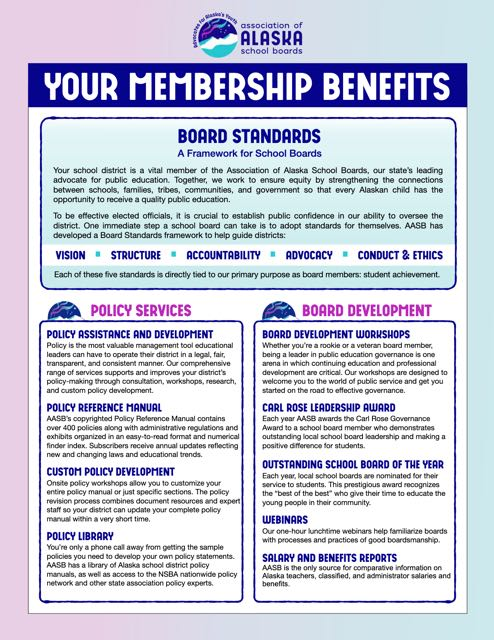 Image of front page of Membership Benefits brochure links to PDF file of Membership Benefits brochure.