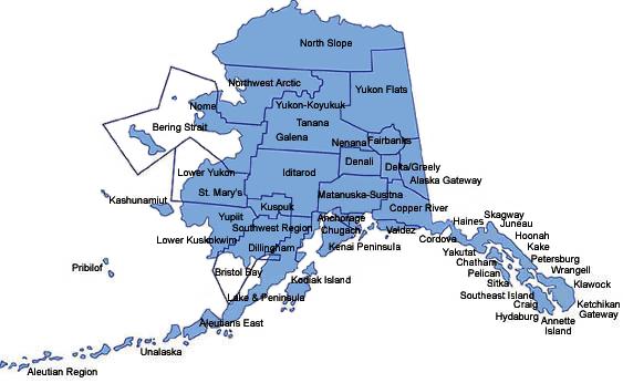 Alaska School District Map